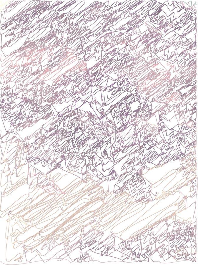 Fondo artístico abstracto con transiciones del color del rosa, ciruelo a la cereza oscura con el uso de elementos decorativos en  stock de ilustración