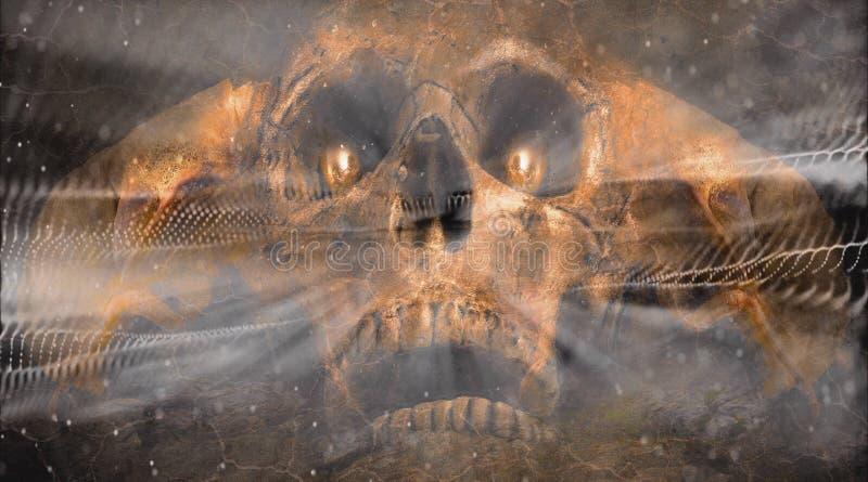 Fondo artístico abstracto de las ilustraciones del alma de Angel Of Death Inhaling A fotos de archivo