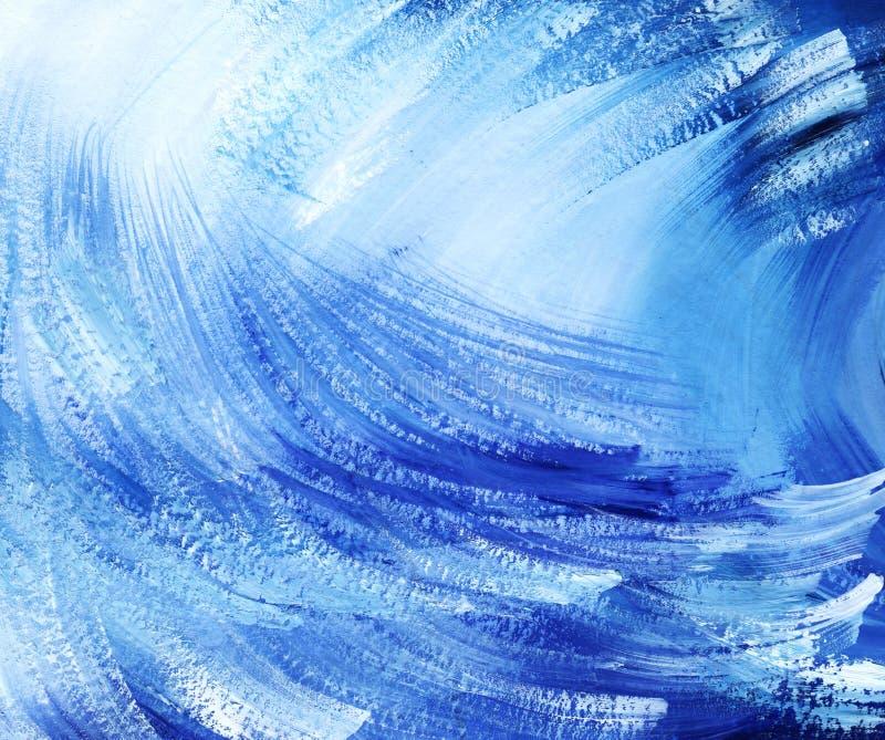 Fondo artístico abstracto Puntos y movimientos azules y blancos del diagone ilustración del vector