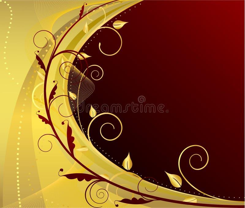 Fondo artístico clásico floral del diseño ilustración del vector