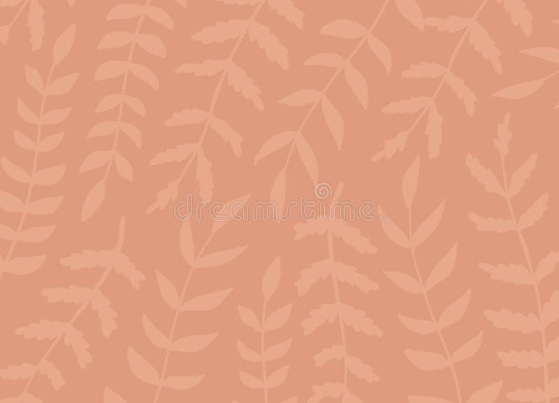 Fondo artístico creativo del estampado de flores Texturas exhaustas de la mano con las hojas Diseño gráfico de moda para la bande libre illustration