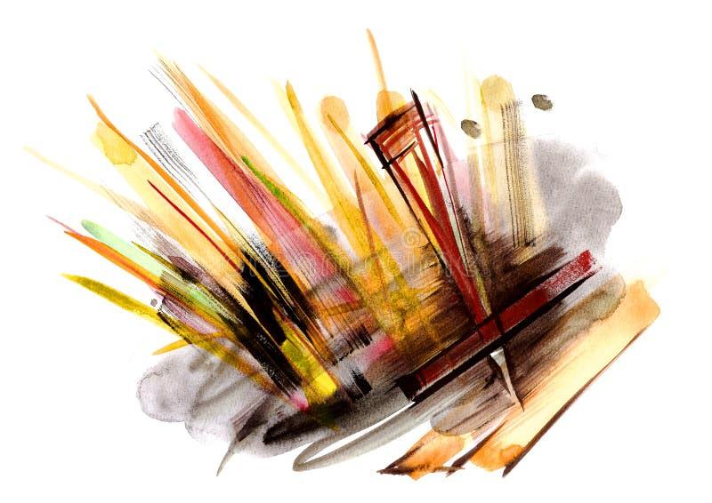 Fondo artístico de la pintura abstracta ilustración del vector