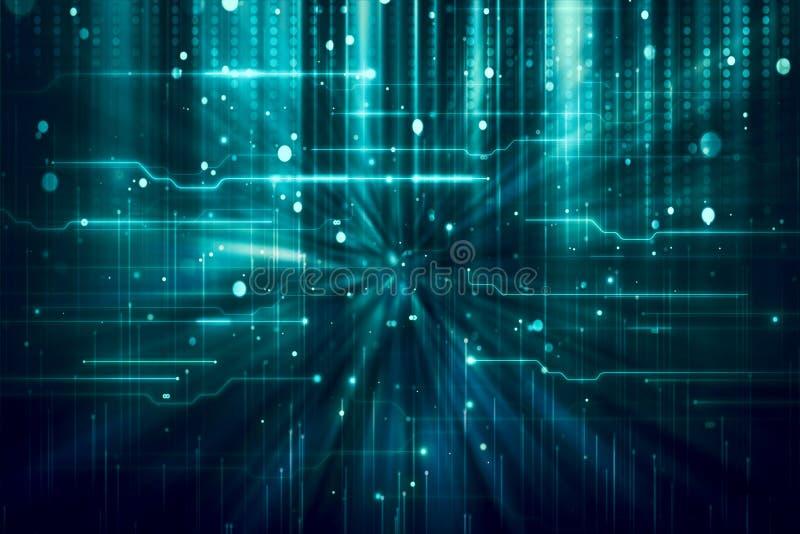 Fondo artístico de la visualización de Big Data del extracto ilustración del vector