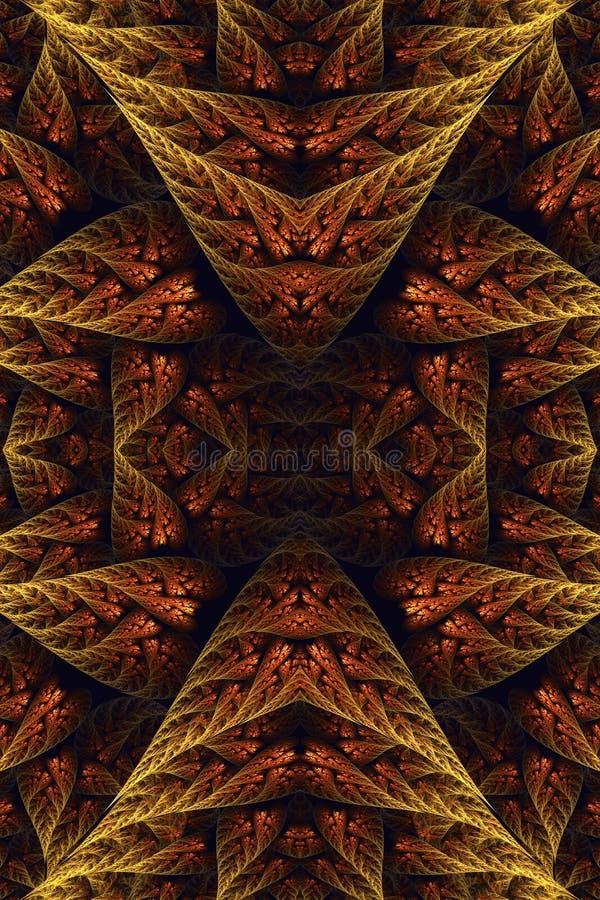 Fondo artístico generado por ordenador de las ilustraciones de los modelos del fractal del vintage del extracto 3d viejo ilustración del vector