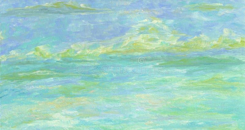 Fondo artístico Textura abstracta del cielo stock de ilustración