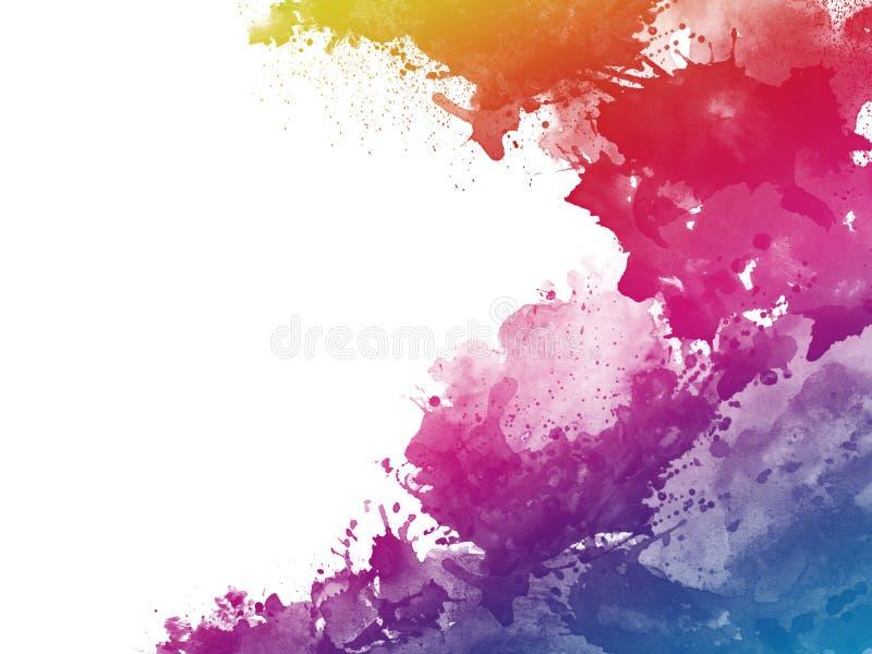 Fondo art?stico abstracto colorido de la pintura de la acuarela imágenes de archivo libres de regalías