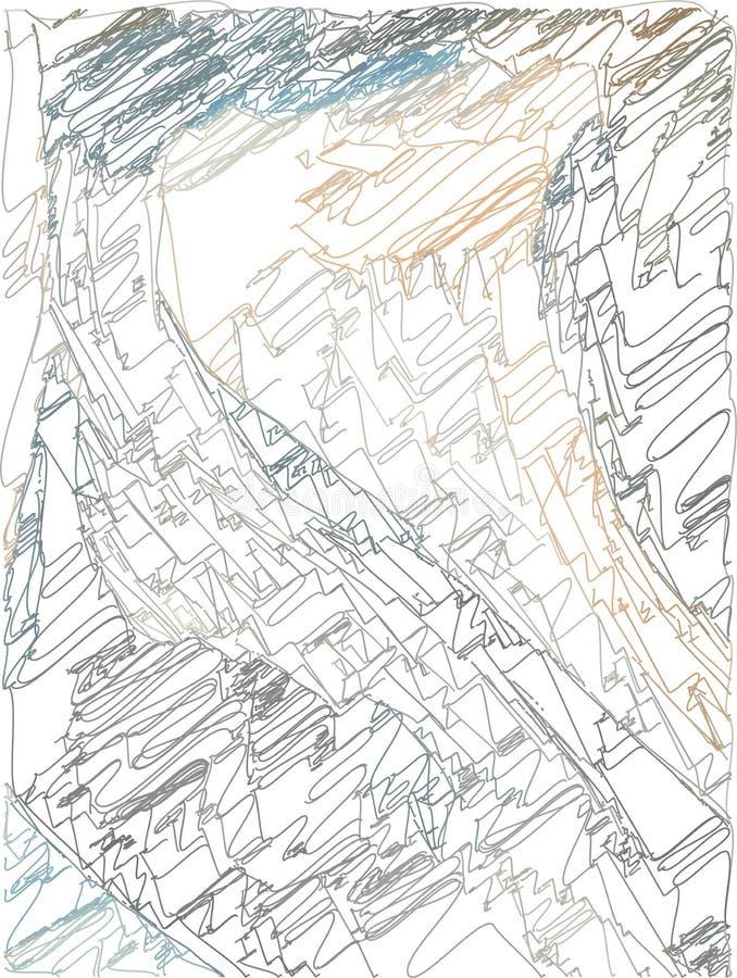 Fondo art?stico abstracto con transiciones del color de ocre a azul-gris con el uso de elementos decorativos en el estilo de la h libre illustration