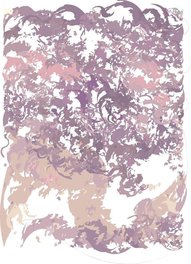 Fondo art?stico abstracto con transiciones del color del rosa, ciruelo a la cereza oscura con el uso de elementos decorativos en  libre illustration