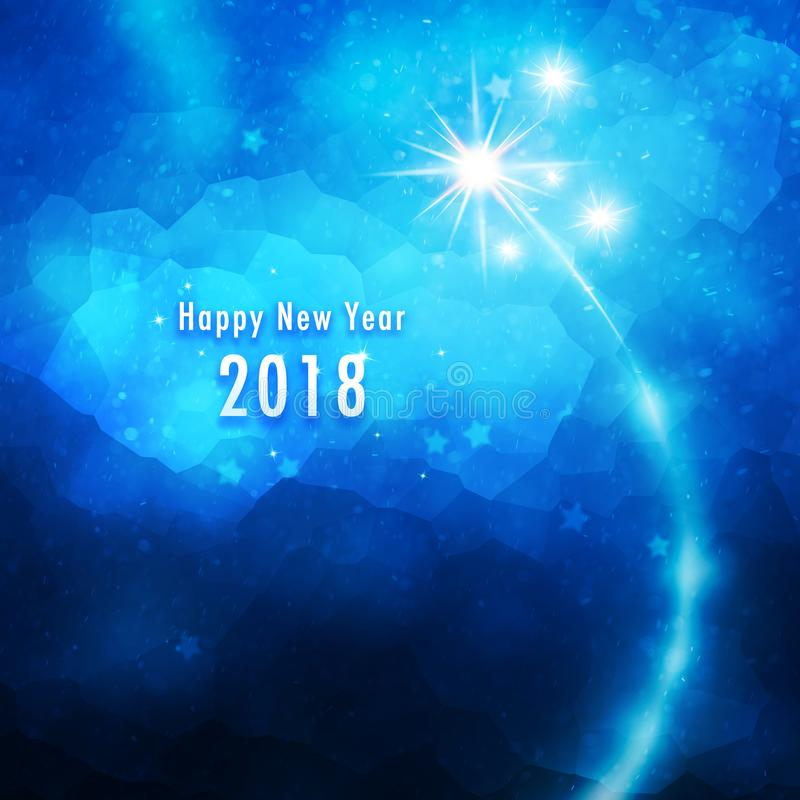 Fondo artistico della decorazione del buon anno royalty illustrazione gratis