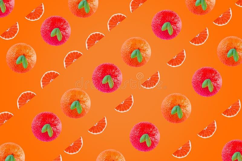 Fondo artistico delle arance per disegno pubblicitario e di più vi spero come arte del baccello fotografia stock libera da diritti
