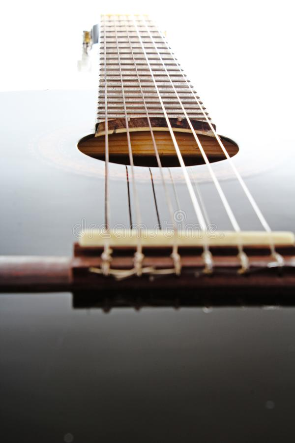 Fondo artsy del POV de la guitarra Ejemplo de la música fotos de archivo
