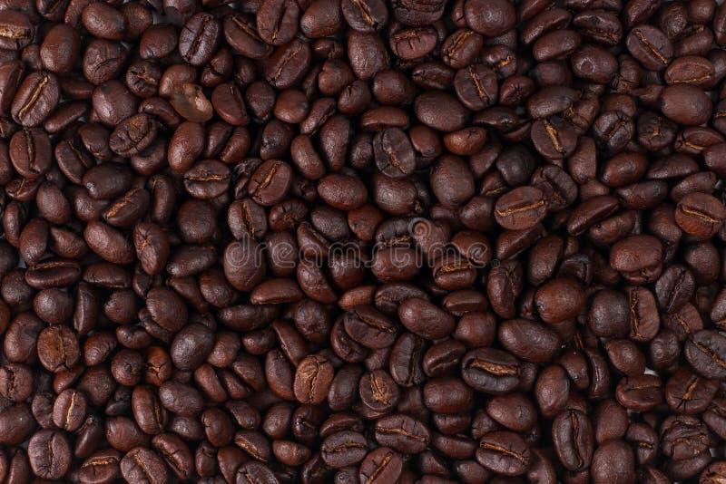Fondo asado de los granos de caf? Visi?n superior fotos de archivo libres de regalías