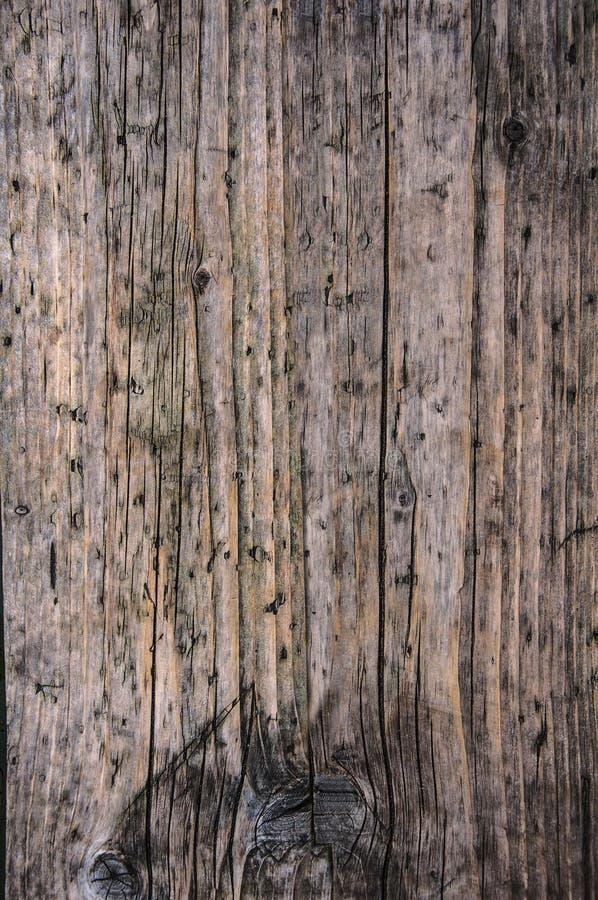Fondo ascendente nonpainted marrón gris envejecido de la textura del cierre de madera superficial del tablón fotos de archivo