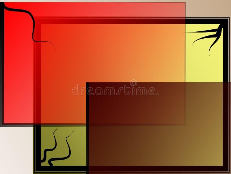 Fondo asiático colorido ilustración del vector