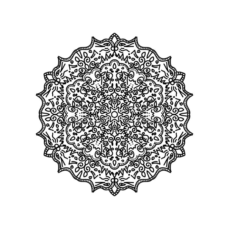 Fondo asiático de la mandala ilustración del vector