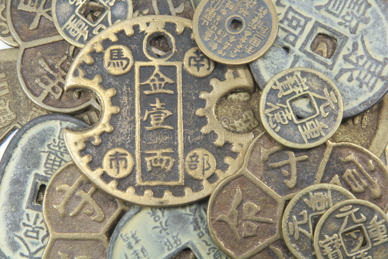 Fondo asiático del dinero en circulación fotografía de archivo