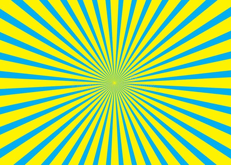 Fondo asoleado Modelo del sol naciente Ejemplo del extracto de la raya del vector sunburst imagen de archivo libre de regalías