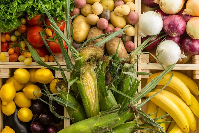 Fondo assortito sano fresco delle verdure immagini stock