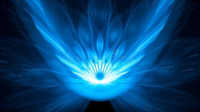 Fondo asteroide del extracto del fondo del impacto 8k del azul que brilla intensamente libre illustration