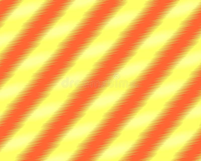 Fondo astratto arancio con le linee diagonali illustrazione vettoriale