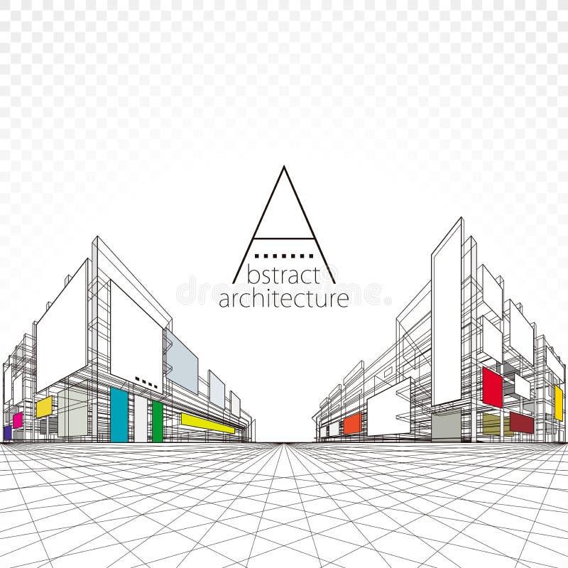 Fondo astratto architettonico royalty illustrazione gratis