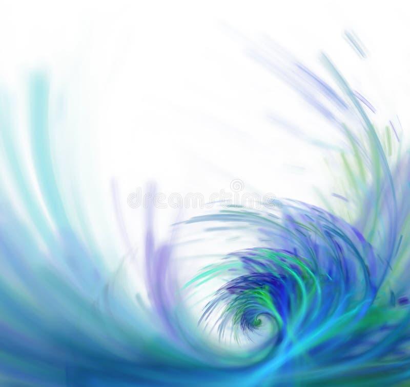 Fondo astratto bianco con struttura di frattale Grande onda porpora illustrazione di stock