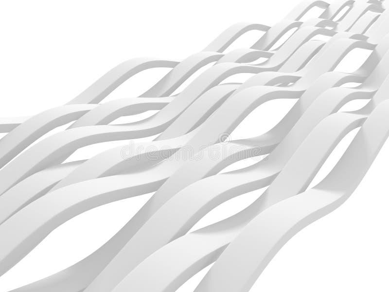 Fondo astratto bianco di struttura del modello della banda fotografia stock