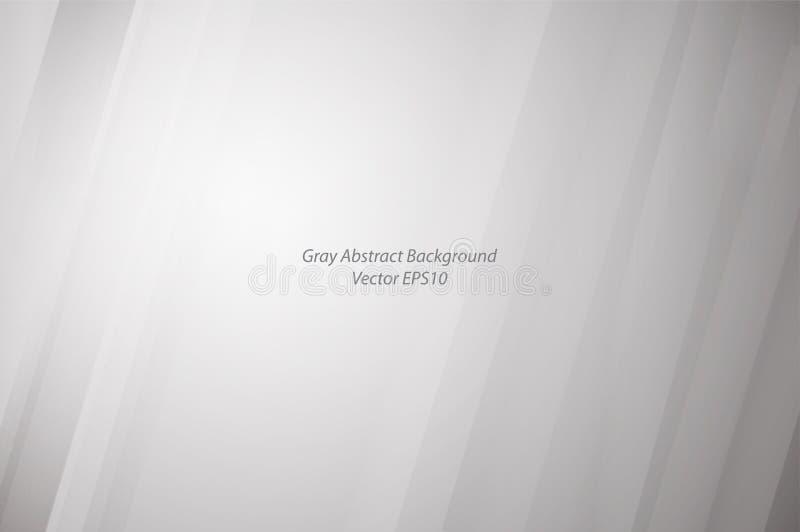 Fondo astratto bianco e grigio con le strisce illustrazione vettoriale