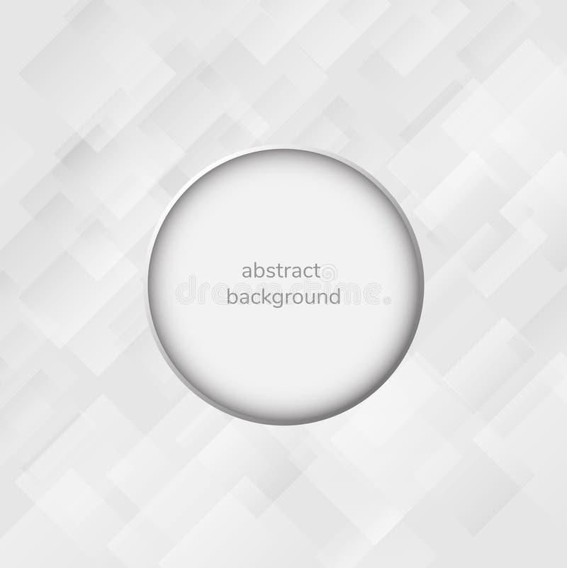 Fondo astratto bianco e grigio, presentazione illustrazione di stock