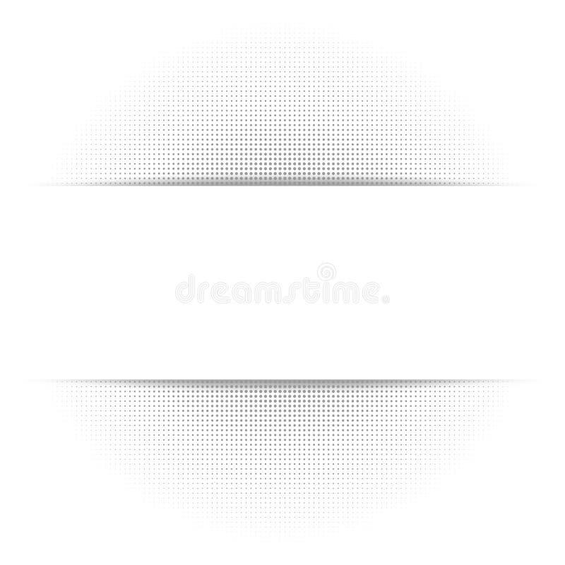Fondo astratto bianco, struttura di semitono geometrica grigia, ombra di carta illustrazione di stock