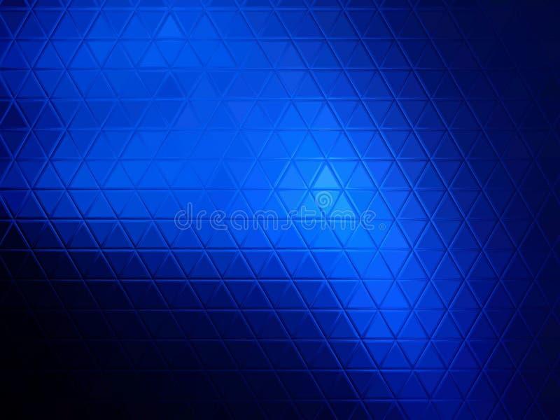 Fondo astratto blu dei triangoli fotografia stock