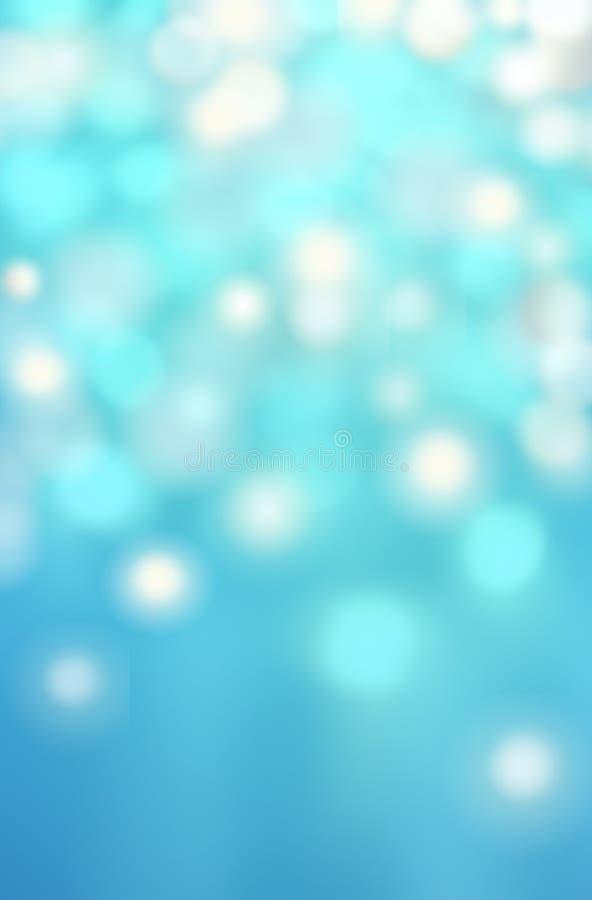 Fondo astratto blu del bokeh con le luci defocused, Natale fotografia stock