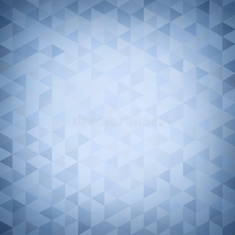 Fondo astratto blu del modello geometrico di scenetta Modello dei cristalli del triangolo del mosaico Progettazione creativa mode illustrazione vettoriale