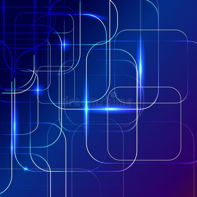 Fondo astratto blu delle tecnologie digitali illustrazione di stock