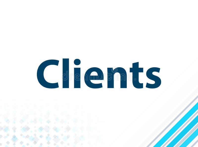 Fondo astratto blu di progettazione piana moderna dei clienti illustrazione di stock