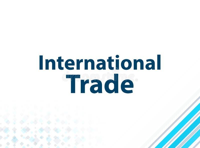 Fondo astratto blu di progettazione piana moderna del commercio internazionale illustrazione di stock
