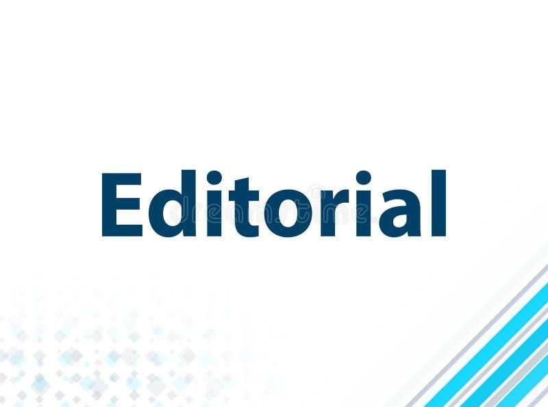 Fondo astratto blu di progettazione piana moderna editoriale illustrazione di stock