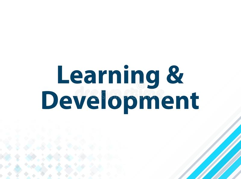 Fondo astratto blu di progettazione piana moderna di sviluppo & di apprendimento illustrazione di stock