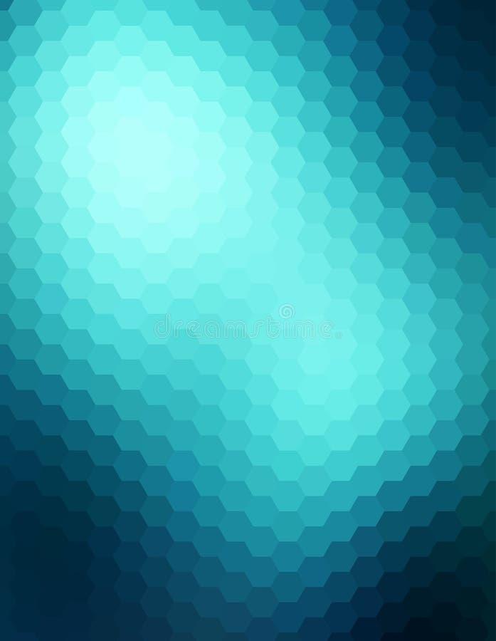 Fondo astratto blu di tecnologia illustrazione di stock