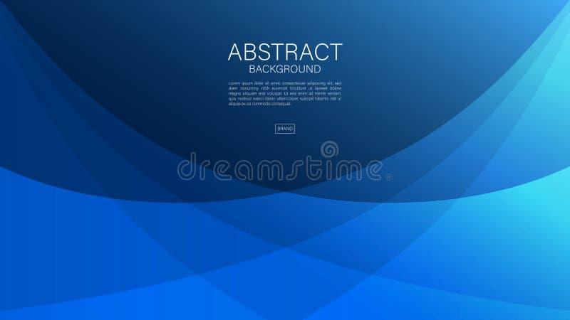 Fondo astratto blu, onda, vettore geometrico, struttura grafica e minima, progettazione della copertura, modello dell'aletta di f royalty illustrazione gratis