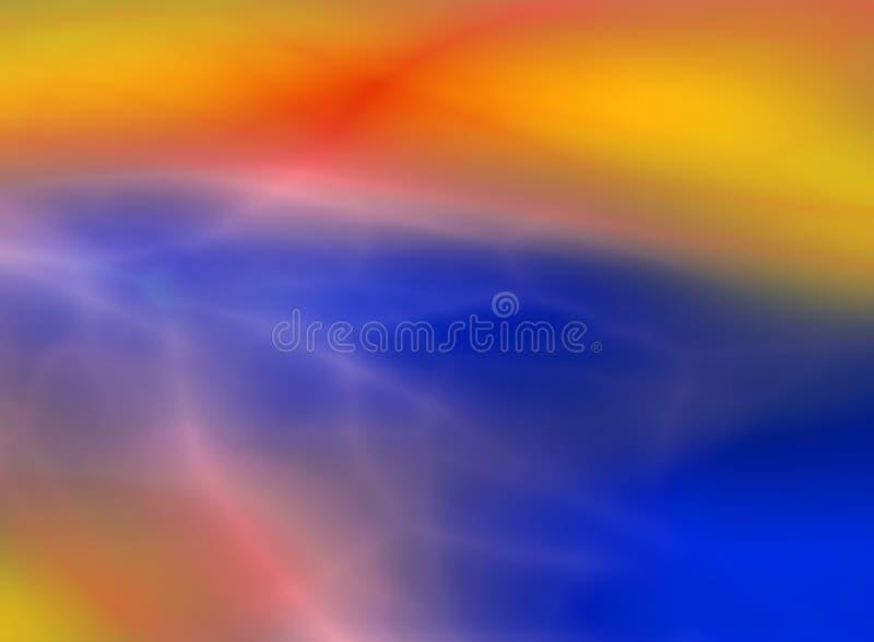 Fondo astratto che ricorda di una nebulosa di colore illustrazione vettoriale