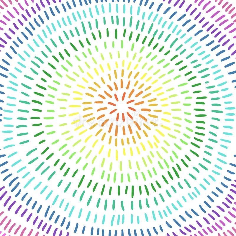Fondo astratto, colori dell'arcobaleno Illustrazione di vettore royalty illustrazione gratis