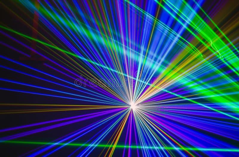 Fondo astratto Colourful di Laserlight con spazio per testo o fotografia stock