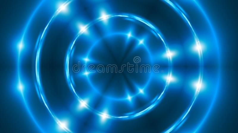 Fondo astratto con caleidoscopico blu di frattale di VJ 3d che rende contesto digitale royalty illustrazione gratis
