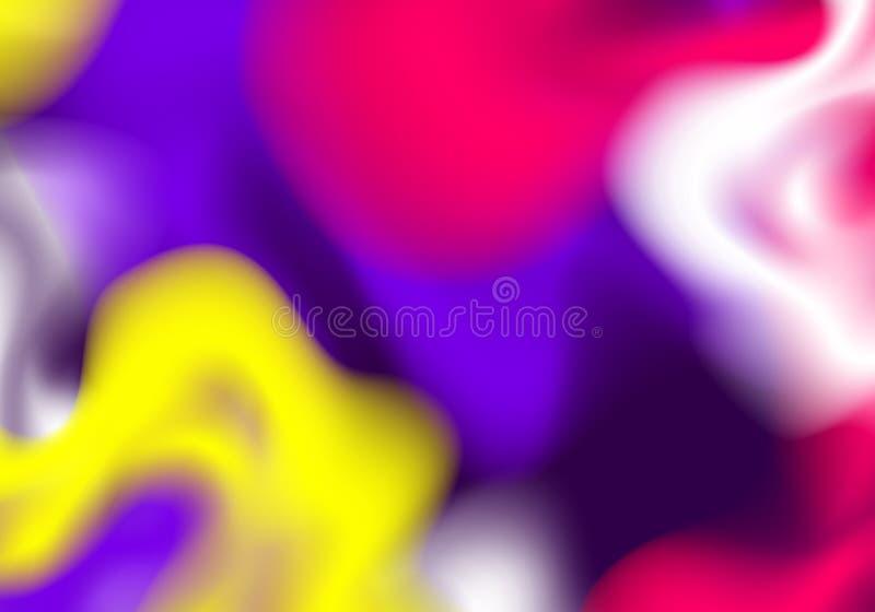 Fondo astratto con flusso variopinto luminoso della pittura Concetto di vettore per il festival di Holi illustrazione di stock