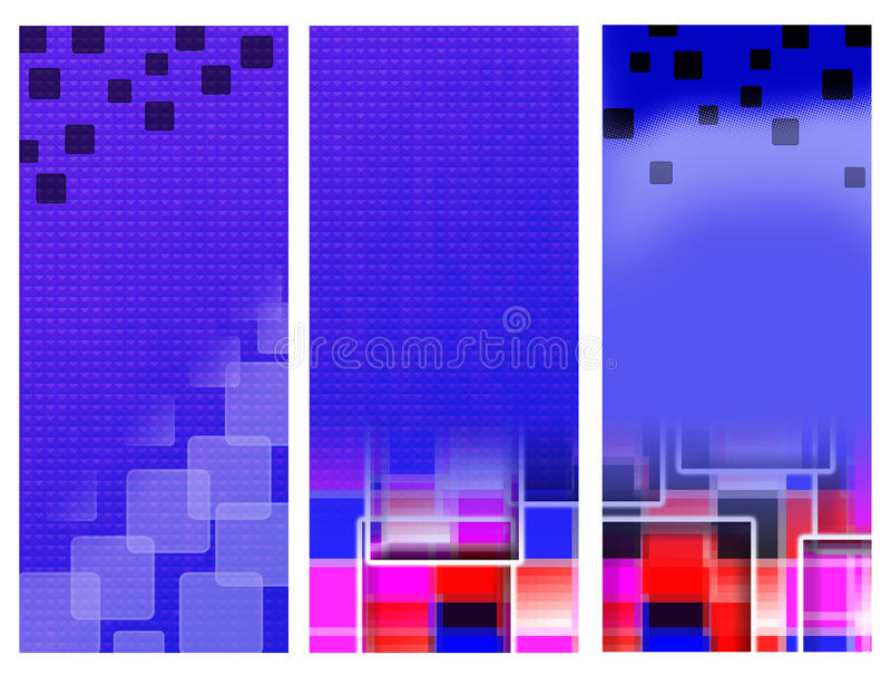 Quadrati blu delle insegne illustrazione di stock