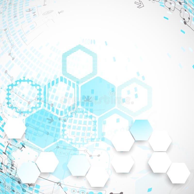 Download Fondo Astratto Con Gli Elementi Tecnologici Illustrazione Vettoriale - Illustrazione di estratto, information: 56892879