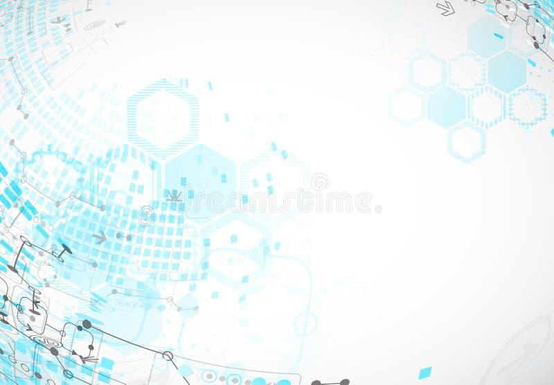 Download Fondo Astratto Con Gli Elementi Tecnologici Illustrazione Vettoriale - Illustrazione di industriale, futuro: 56893099