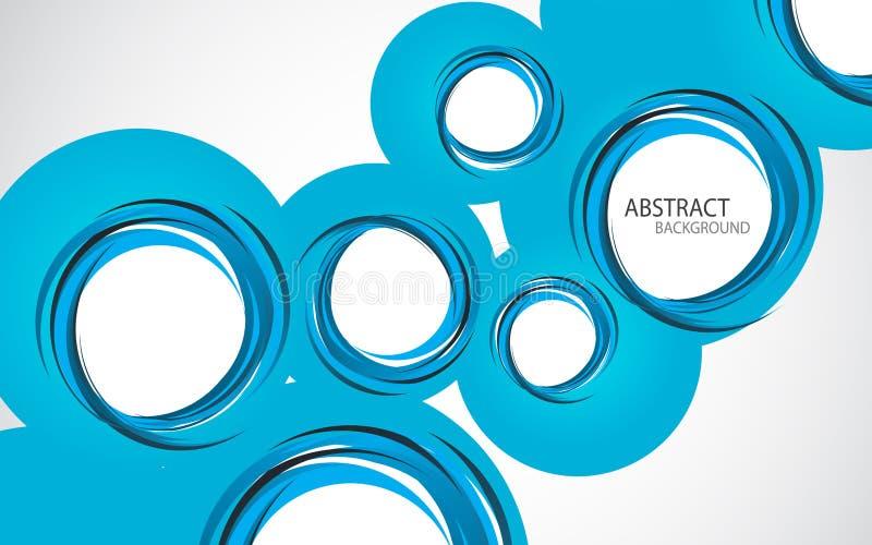 Fondo astratto con i cerchi blu illustrazione vettoriale