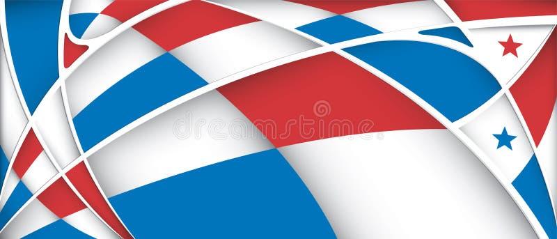 Fondo astratto con i colori della bandiera del Panama illustrazione di stock